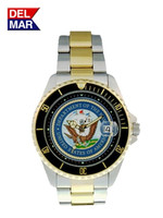 Men's Navy Military Watches-Two Tone