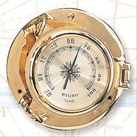 Nautical Brass Porthole Hygrometers
