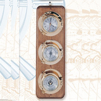 Vertical mount barometer / thermometer / clock