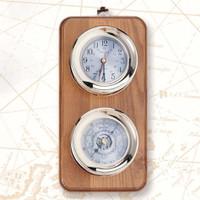 Deluxe Nautical Captain Clock Barometer