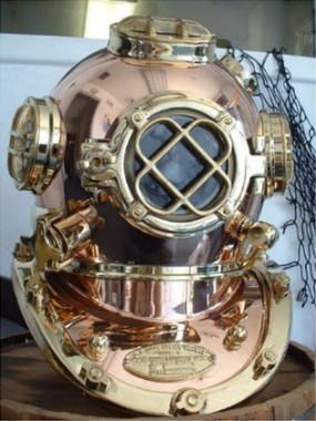 Deep Sea Diving Mark V U S Navy Diving Helmet