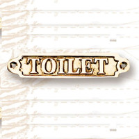 "6"" Brass TOILET Name Plate Plaques"