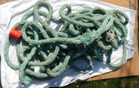 "Green Blue Faded Braided 1.5"" Dia. Rope"