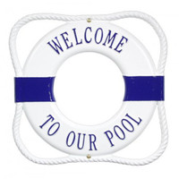Personalized Lettering Life Preservers Plaque