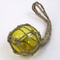 """4"""" Glass Fish Ball Float Jute Net"""