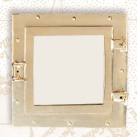 Nautical Square Ships Porthole Mirror