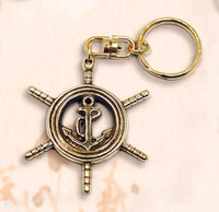 Ship Wheel Anchor Combination Key Chain