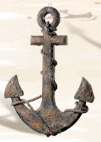 "20"" Nautical Fouled Wooden Ship Anchor"