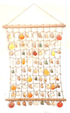 Sea Shells Portiere Wall Hanging