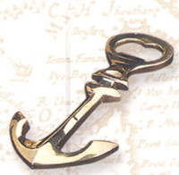 Brass Ship Anchor Bottle Opener