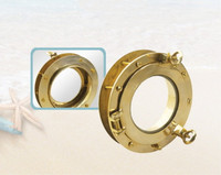 "9"" Adjustable Two Sided Brass Porthole"