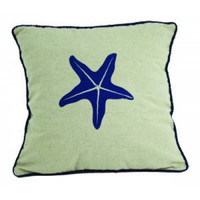 Starfish Nautical Beach Pillow