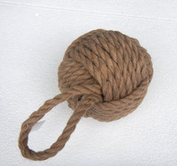 Deluxe nautical sailors knot rope doorstop for Heavy rope for nautical use