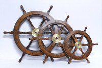 36 Inch Nautical Wood Ship's Wheel