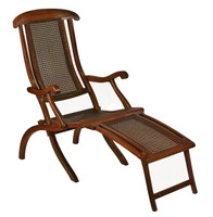 French Line Adirondack Wood Deck Chair