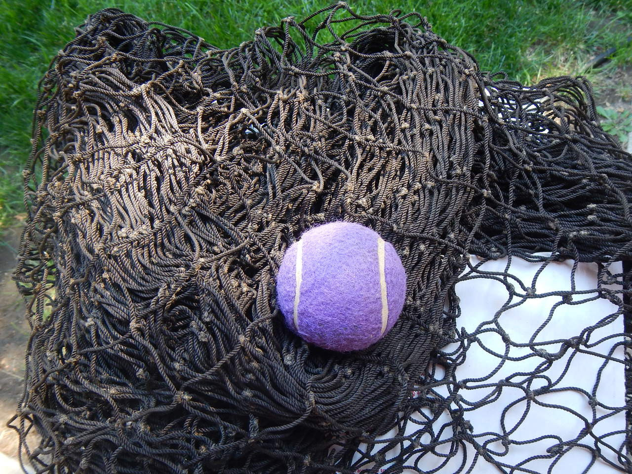Brown fishing net fish netting vintage authentic sea tiki for Fish netting for sale