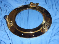 Polished Brass Porthole Clear Glass