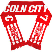 Lincoln City Club Scarf Red/White by Ascar. Available now from Andreas Carter Sports.