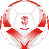 Lincoln City FC Mini Football by . Available now from Andreas Carter Sports.