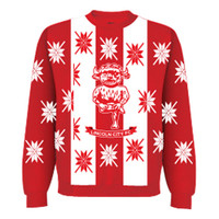Christmas Jumper, by LCFC. Available now from Andreas Carter Sports.