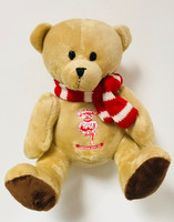 Lincoln F.C., Maisie Bear with Red Scarf by ASCAR. Available now from Andreas Carter Sports.