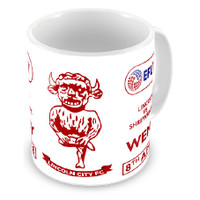 Lincoln City, Red/White Trophy Mug by Ascar. Available now from Andreas Carter Sports.