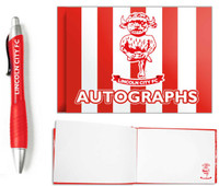 Lincoln City, Autograph & Pen Set by ASCAR. Available now from Andreas Carter Sports.