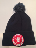Welling United Adult Bobble Hat by Ascar. Available now from Andreas Carter Sports.