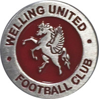 Welling United Pin Badge 25mm by Ascar. Available now from Andreas Carter Sports.