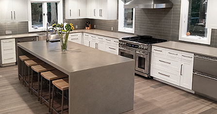 Kitchen concrete countertops
