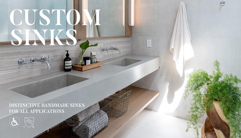 Custom Floating Concrete Sink