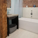 """Trueform Contempo Concrete Bathroom Vanity Sink is a custom modern sink with contemporary features for the bathroom, or powder room. Wharton, New Jersey. Concrete shown in the color """"Concrete"""""""