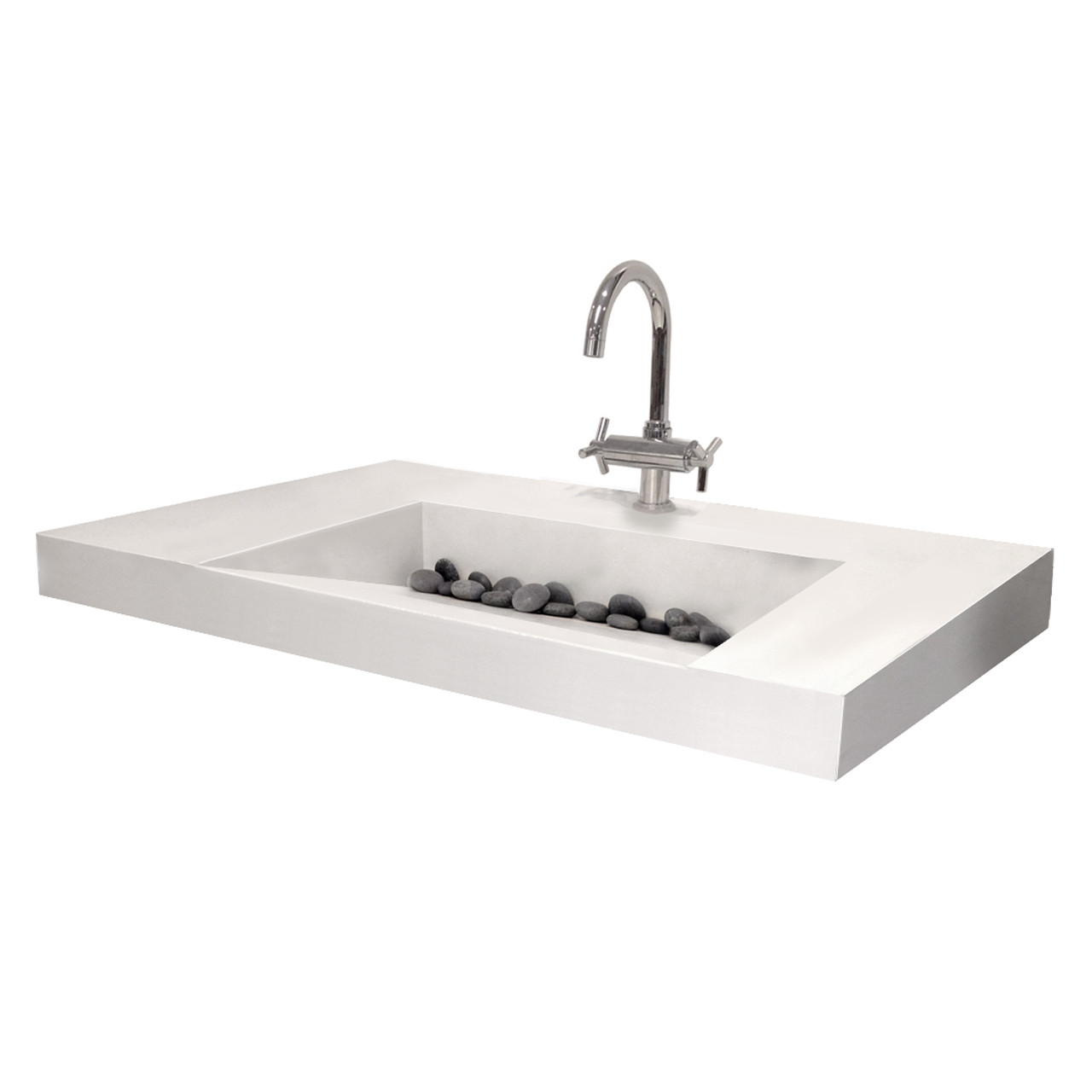 Floating Ada Compliant Bathroom Sink Trueform Concrete