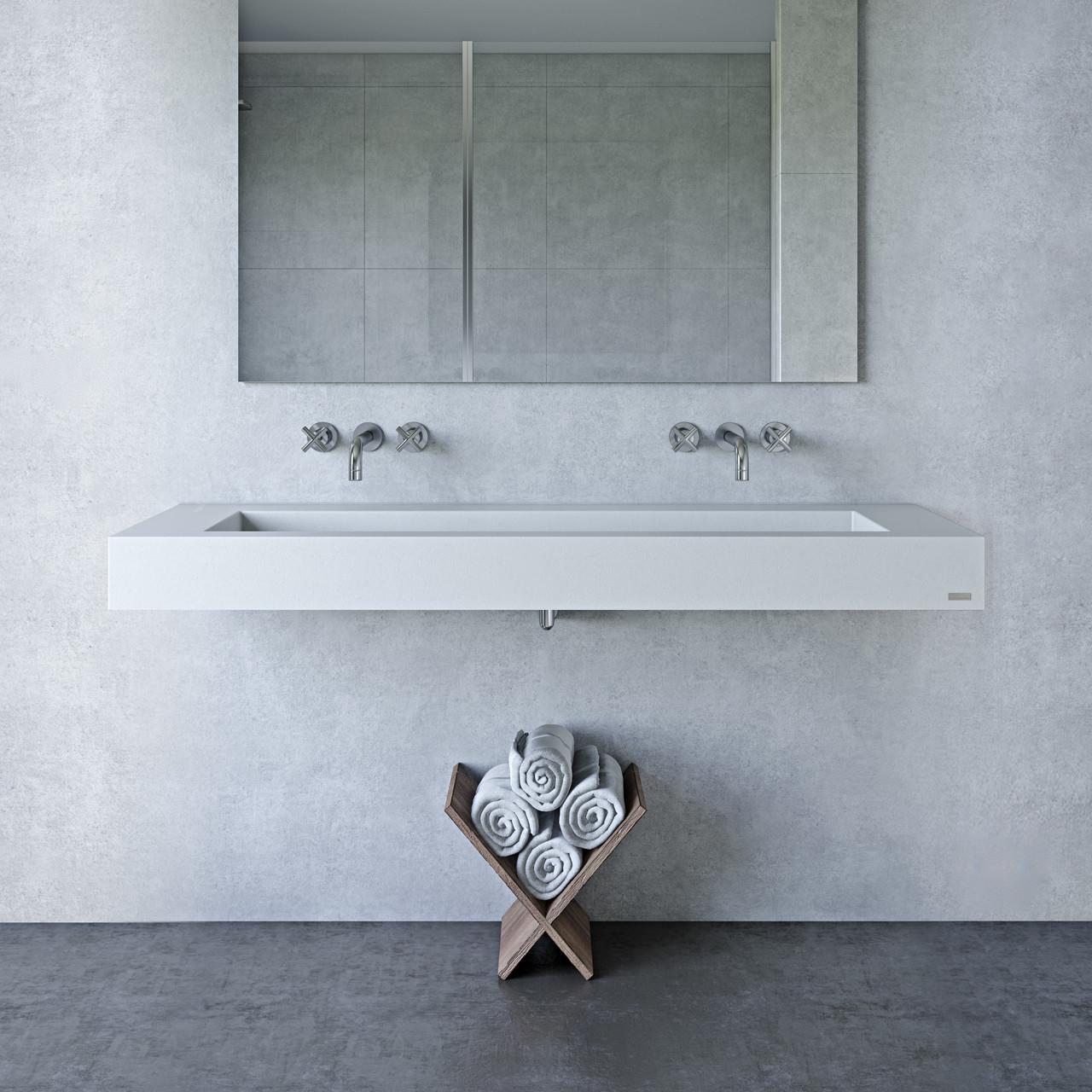 60 Floating ADA Concrete Bathroom Sink