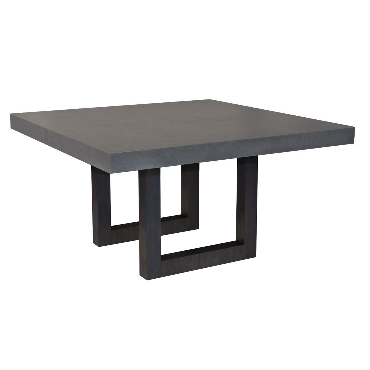Concrete Dining Room Table: Square Zen Concrete Dining Table