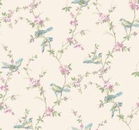 Callaway Cottage Flowred Damask Wallpaper CT0874 by York