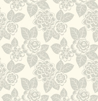 Candice Olson Dimensional Surfaces Flocked Floral Wallpaper CX1303 by York