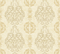 Botanical Fantasy Damask Stripe Wallpaper WB5434 by York