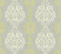 Botanical Fantasy Damask Stripe Wallpaper WB5441 by York