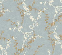 Botanical Fantasy Delicate Floral Branch Wallpaper WB5447 by York