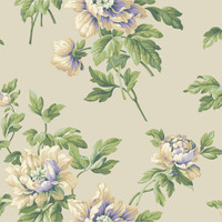 Casabella II Document Floral Wallpaper BA4611 by York