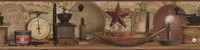 Country Keepsakes Country Coffee Border Wallpaper AC4397BD by York