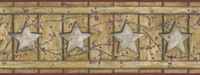 Country Keepsakes Country Cutout Star Wallpaper AC4414BD by York