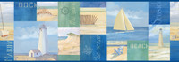 Blue Coastal Breeze Collage Border