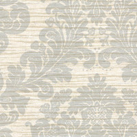 Anders Blue Grasscloth Damask