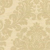 Anders Beige Grasscloth Damask