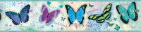 BFF Blue Butterflies And Stars Border