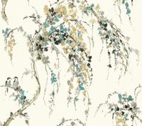 Watercolors RL9628 Gentle Cascade Wallpaper