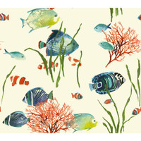 "Tropics 3"" Stripe AT7010 Wallpaper"