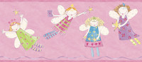 Border Portfolio II Angel Fairies Border ZB3446BD by York
